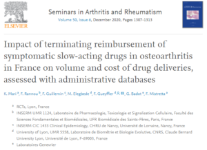 Impact of terminating reimbursement of symptomatic slow-acting drugs in osteoarthritis in France